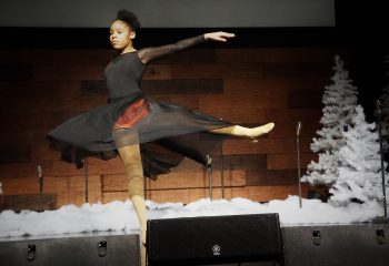 5th grader performs a ballet number during the Talent Show!