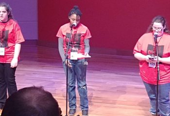 High school students perform at the annual Concept Schools' Spoken Word Competition 2019.